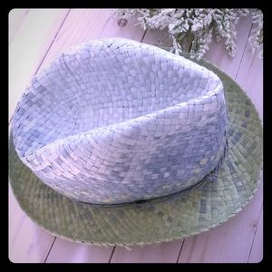 Tommy Bahama Blue and Green Straw Hat